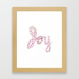 Watercolor JOY Framed Art Print