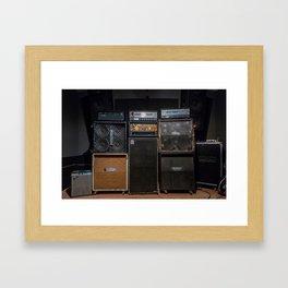 Heavy Metal Amp Stack Framed Art Print