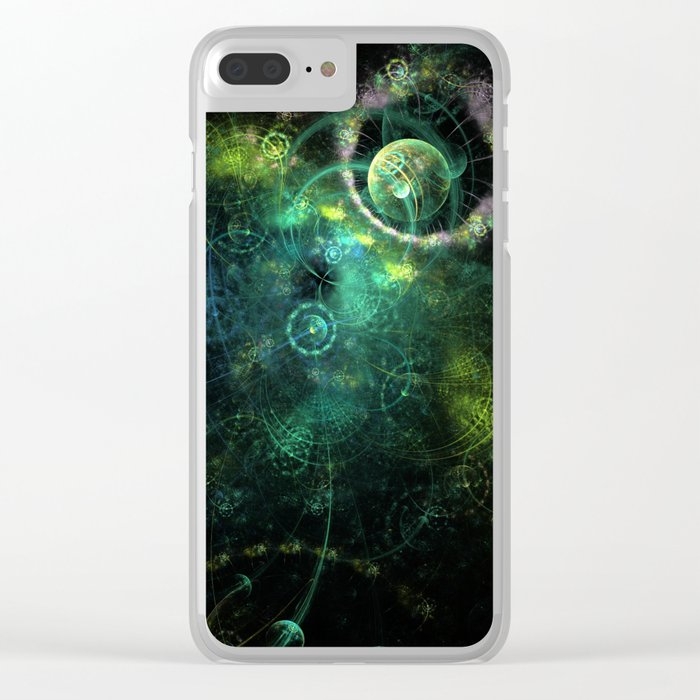 Feeling Spacey Clear iPhone Case