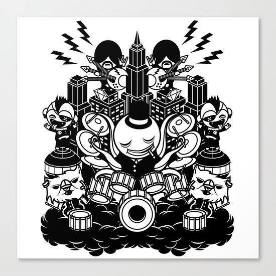 Octopus Drummer 2010 Canvas Print