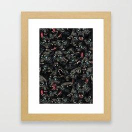 Wolf Pack Pattern Framed Art Print