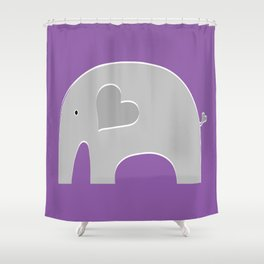 Purple Safari Elephant 2 Shower Curtain