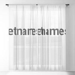 vietnamese Sheer Curtain