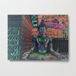 Looking For Buddha 33d Metal Print
