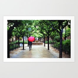 A Rainy Barcelona Art Print