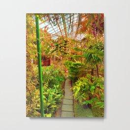 Tropical Green House - Autumn Palette  Metal Print