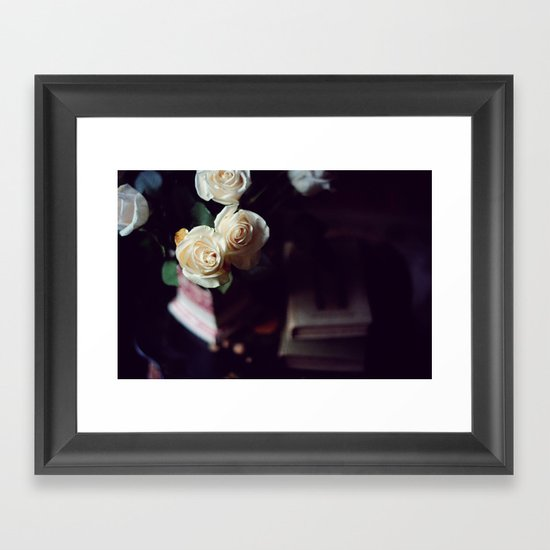 i'd rather have roses Framed Art Print