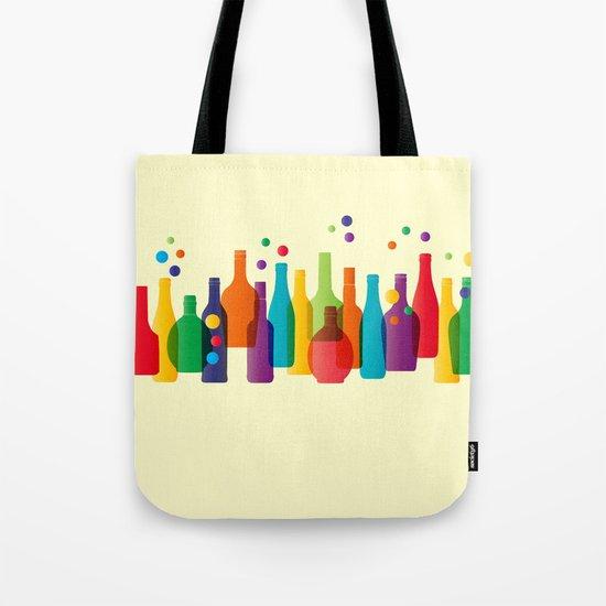 Colored bottles Tote Bag