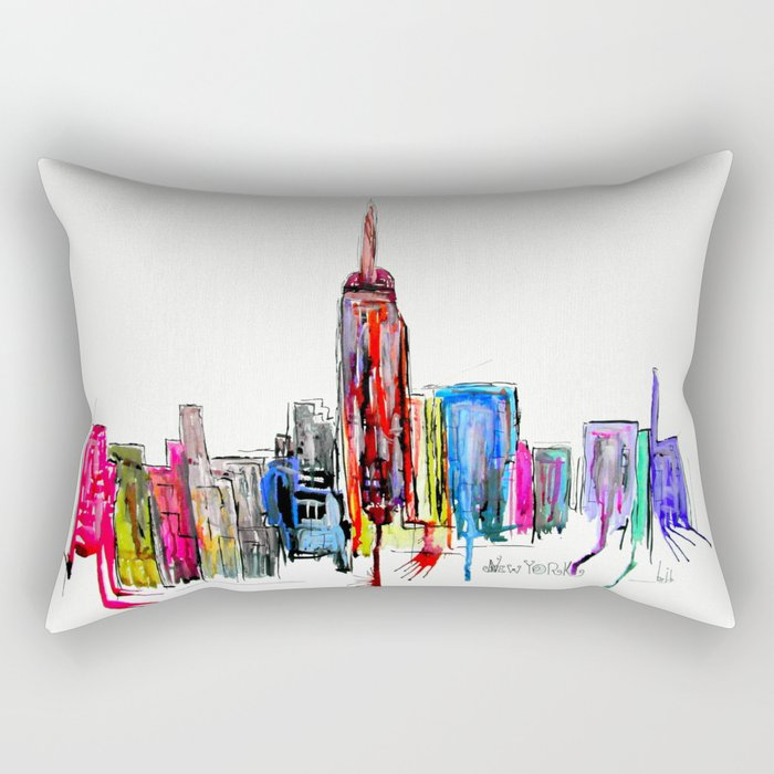 new york inked  Rectangular Pillow