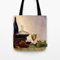 wine Tote Bags featuring Wine by Azot