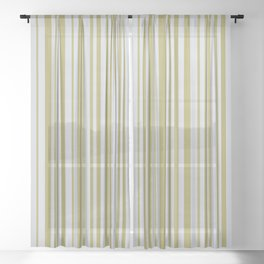 Lines 32 Gold on Platinum Sheer Curtain
