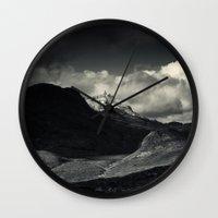 nan lawson Wall Clocks featuring Sgùrr nan Gillean and Loch na Creitheach from Camasunary, Isle of Skye by Ferdinand Bardamu