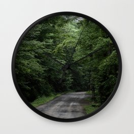 Back Road Wall Clock