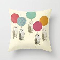 Balloon Landing Throw Pillow