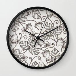 Strawberry pattern 2 Wall Clock