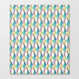 Pastel Diamonds Canvas Print