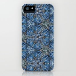 swirl blue pattern iPhone Case