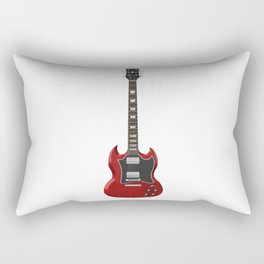 Red Electric Guitar Rectangular Pillow
