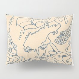 Blue and White Ideas and doodles Pillow Sham