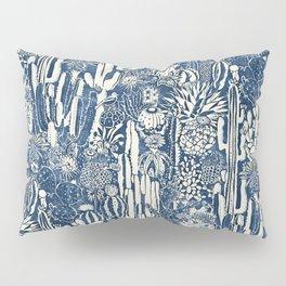 Indigo cacti Pillow Sham