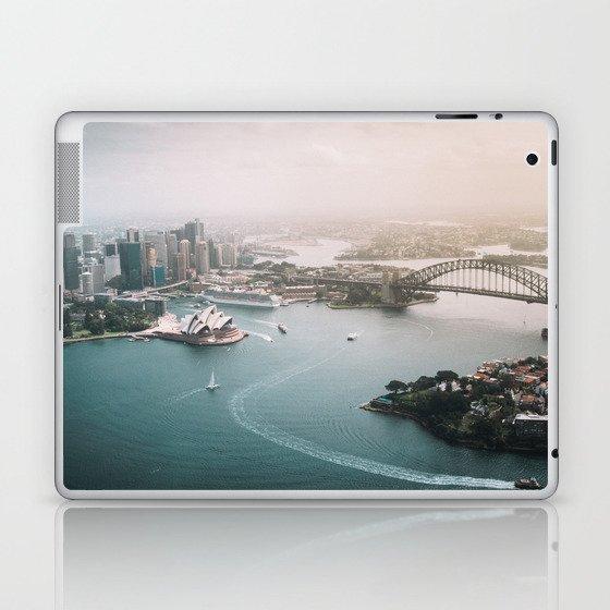 Sydney Opera House Harbour Bridge | Australia Aerial Travel Photography Laptop & iPad Skin