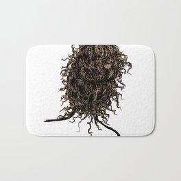 Messy dry curly hair 2 Bath Mat