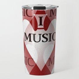 yo amo la música Travel Mug