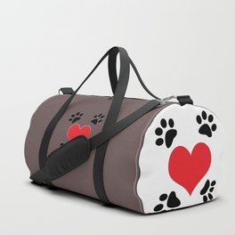 Hearts and 4 Paws Duffle Bag