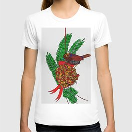 Little Bird In Evergreen Boughs T-shirt