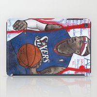 nba iPad Cases featuring NBA PLAYERS - Allen Iverson by Ibbanez