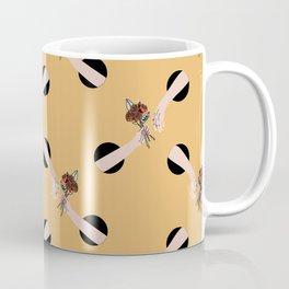 In Love - hands with flowers - MUSTARD #pattern Coffee Mug