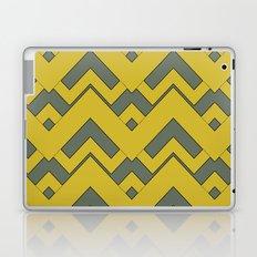 zig zag mustard Laptop & iPad Skin