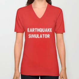 Earthquake Simulator Unisex V-Neck