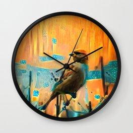 Meadow Sunset Wall Clock