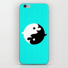 Yin Yang Dolphins iPhone & iPod Skin