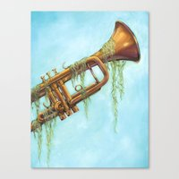 trumpet Canvas Prints featuring Trumpet by dangercat