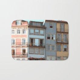 Pastel Porto Houses Bath Mat