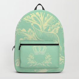 Crown Vector Mint Green Flourish Backpack