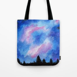 Night Sky, Acrylic Galaxy Art Tote Bag