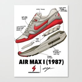 WHAT MAKES AN ICON: AIR MAX 1 Canvas Print