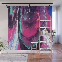 Waterfall Acrylic Pour Wall Mural