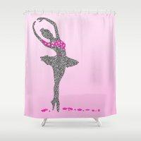 ballerina Shower Curtains featuring BALLERINA by Grazemee