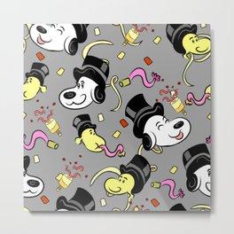 Snoopys bash pattern Metal Print
