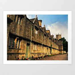 The Almshouses of Chipping Campden Art Print