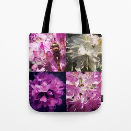 Rhododendron & dragonfly Tote Bag