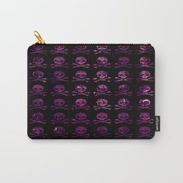 Skull and XBones: Purple Cabbage Carry-All Pouch