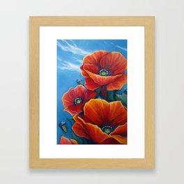 Poppy Breeze Framed Art Print