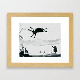 der hase und der igel Framed Art Print