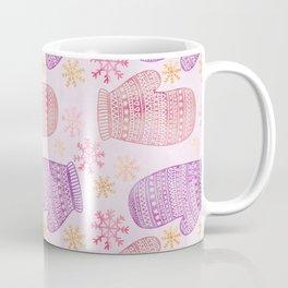 Wintertime pattern knitted mittens Coffee Mug