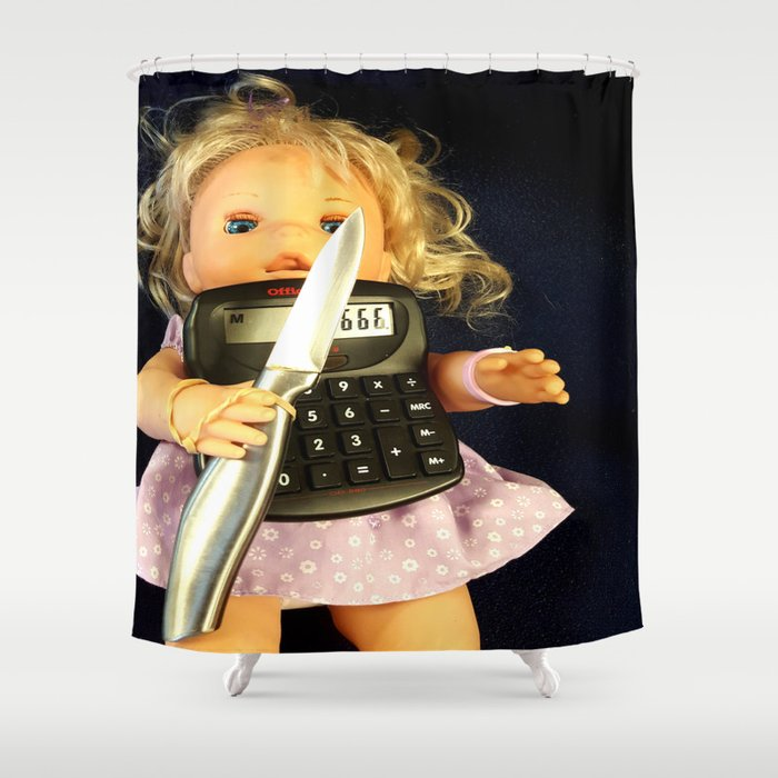 Miss Merry Sunshine Shower Curtain